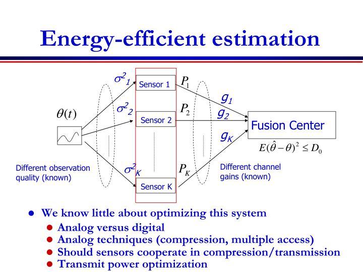 Energy-efficient estimation