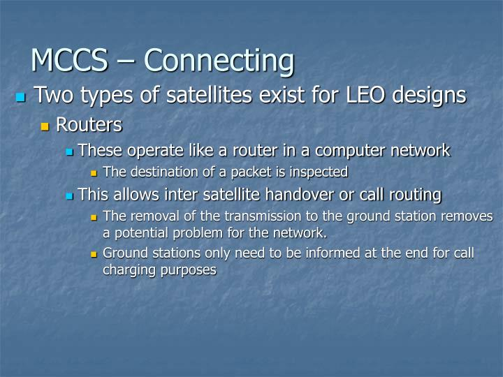 MCCS – Connecting