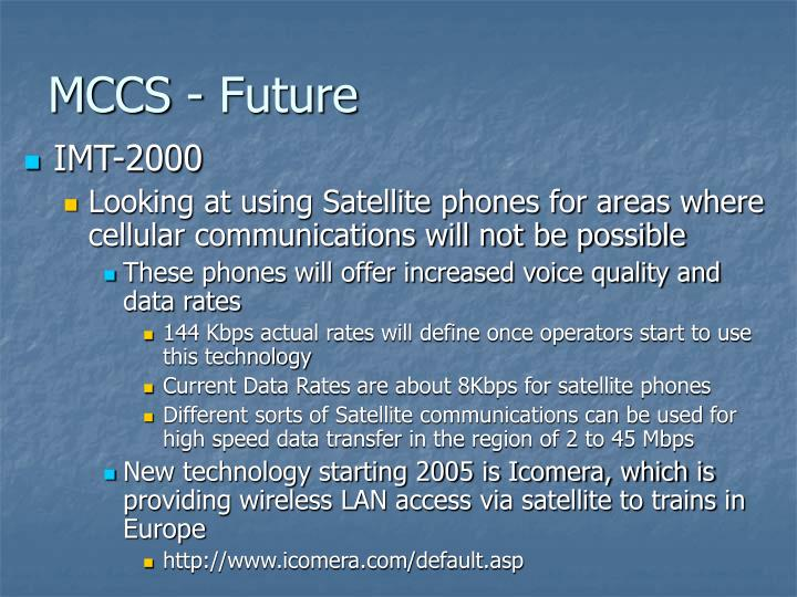 MCCS - Future