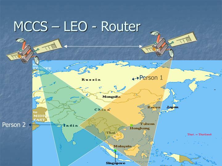 MCCS – LEO - Router