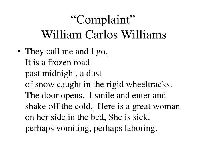 """""""Complaint"""""""