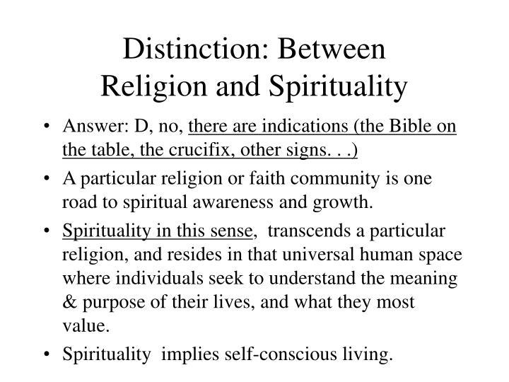 Distinction: Between