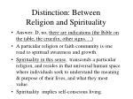 distinction between religion and spirituality