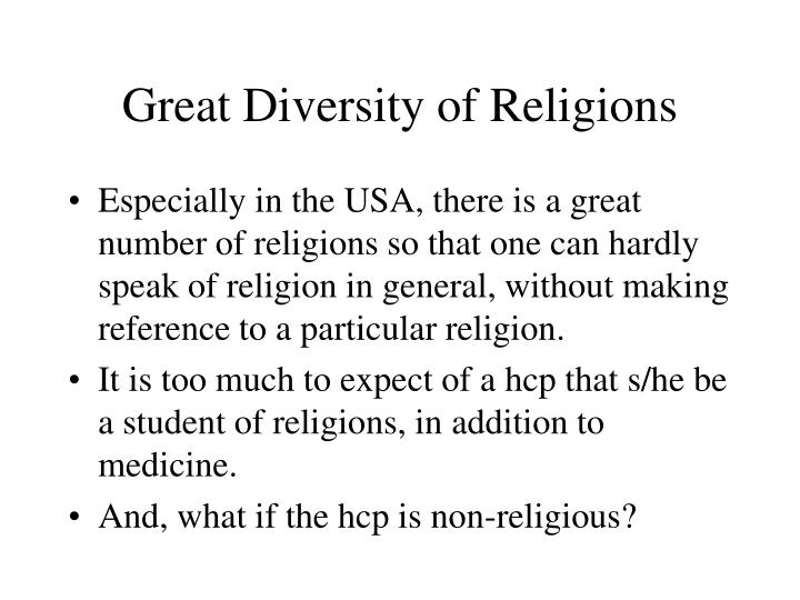 Great Diversity of Religions