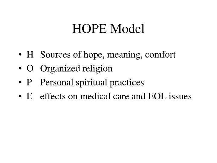 HOPE Model