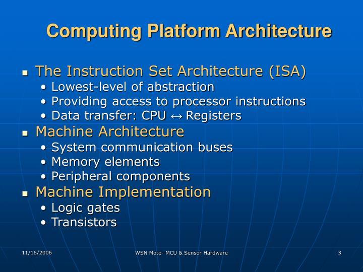 Computing Platform Architecture