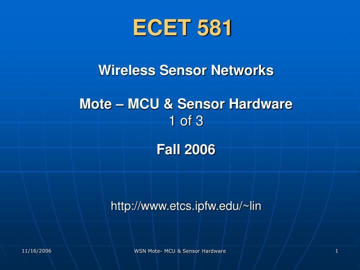 ECET 581