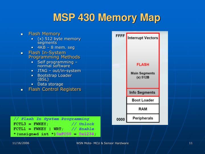 MSP 430 Memory Map
