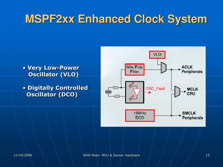 MSPF2xx Enhanced Clock System