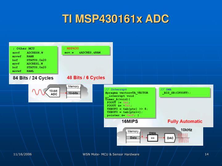 TI MSP430161x ADC
