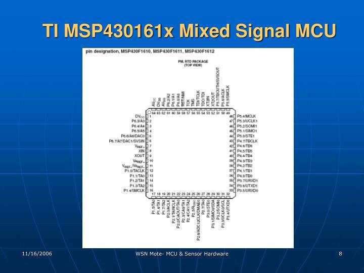 TI MSP430161x Mixed Signal MCU