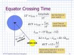 equator crossing time