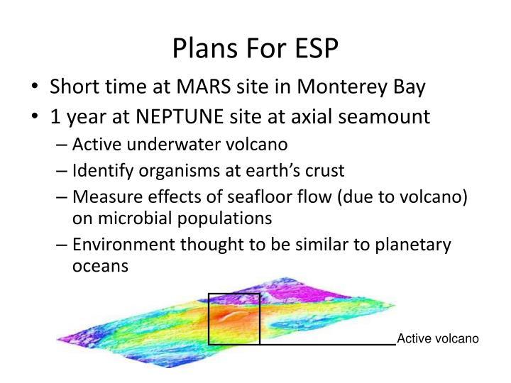 Plans For ESP