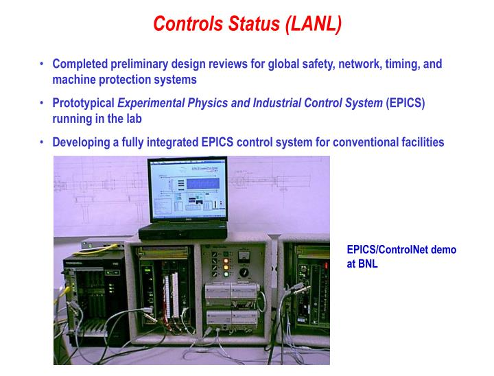 Completed preliminary design reviews for global safety, network, timing, and machine protection systems