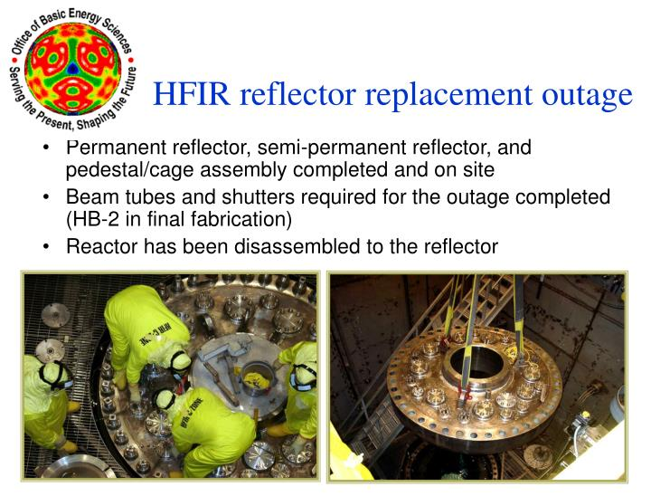 Permanent reflector, semi-permanent reflector, and pedestal/cage assembly completed and on site