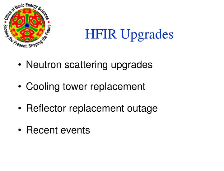 HFIR Upgrades