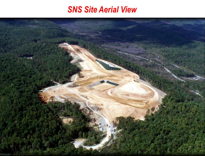 SNS Site Aerial View