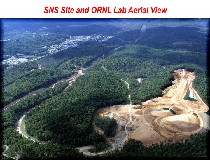 SNS Site and ORNL Lab Aerial View