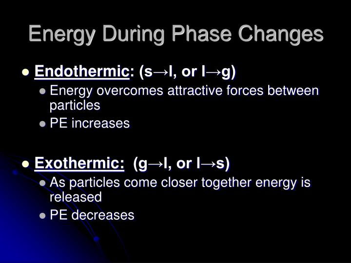 Energy During Phase Changes