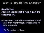 what is specific heat capacity