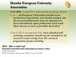 mandat european university association