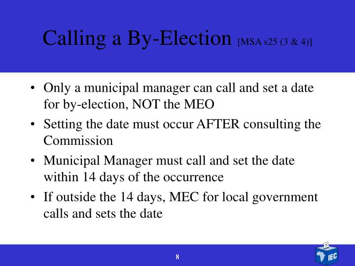 Calling a By-Election
