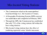 mis located voting stations