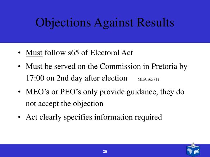 Objections Against Results