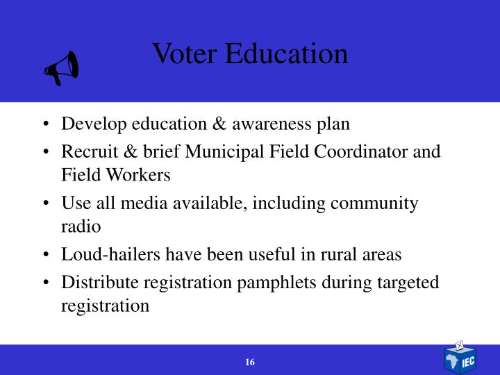 Voter Education