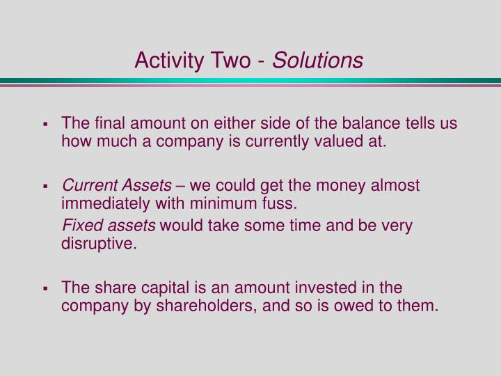 Activity Two -
