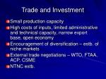 trade and investment