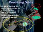 describing orbits