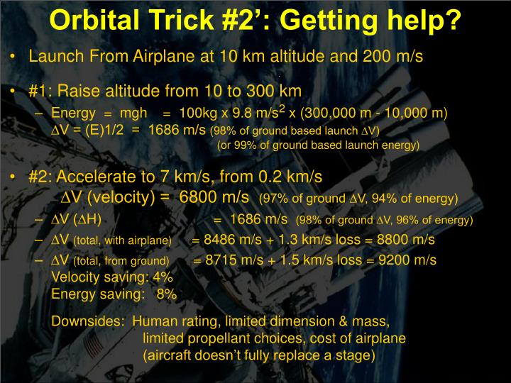 Orbital Trick #2': Getting help?