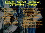 orbits select achieve determine change