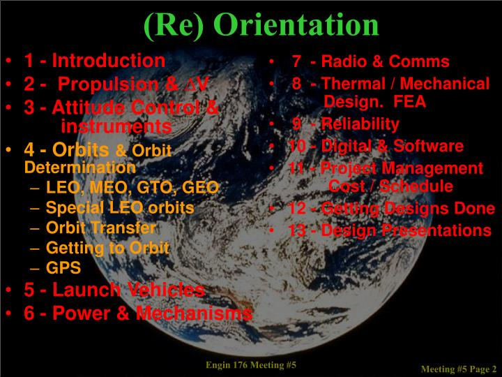 (Re) Orientation
