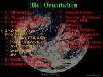 re orientation