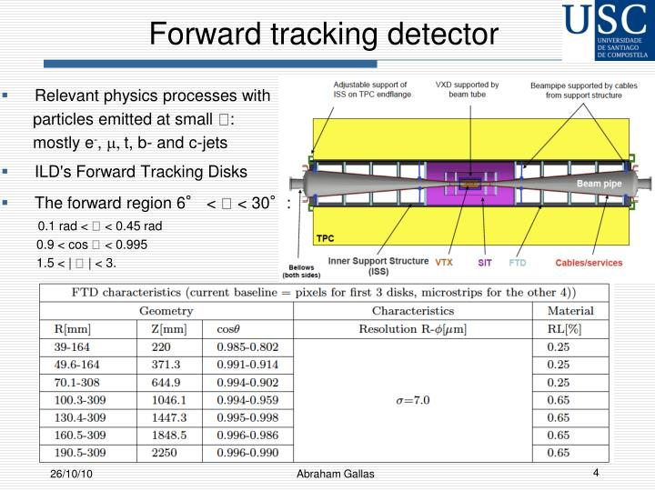 Forward tracking detector