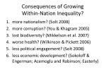 consequences of growing within nation inequality