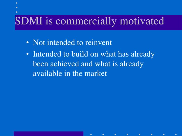 SDMI is commercially motivated