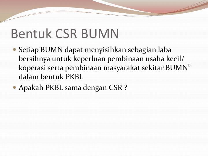 Bentuk CSR BUMN