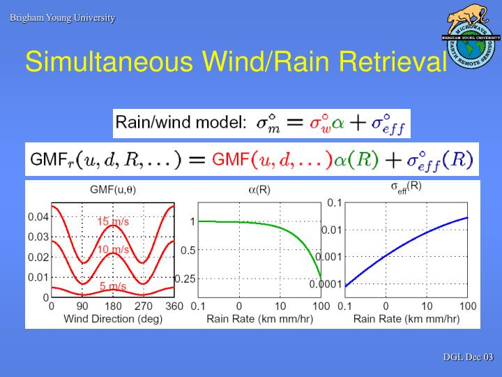 Simultaneous Wind/Rain Retrieval