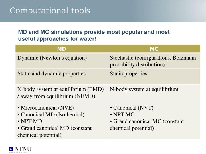 Computational tools