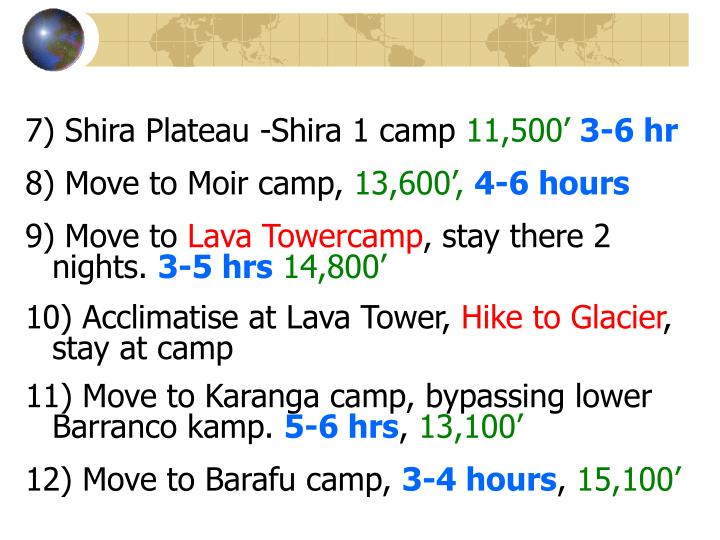 7) Shira Plateau -Shira 1 camp