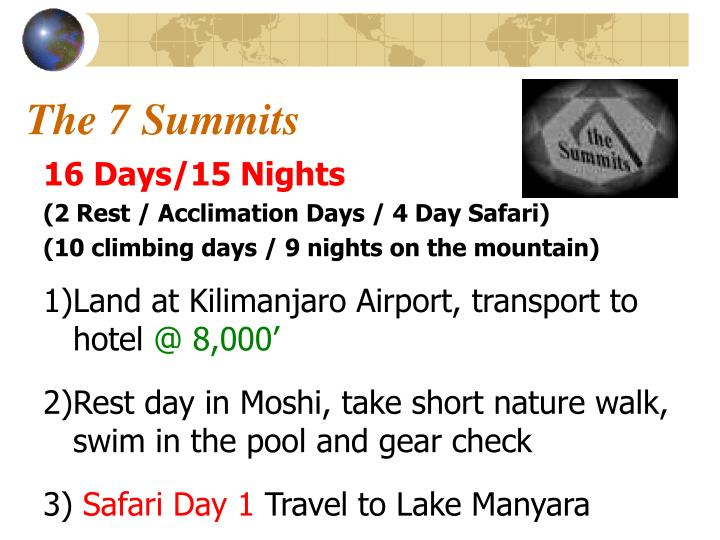 The 7 Summits