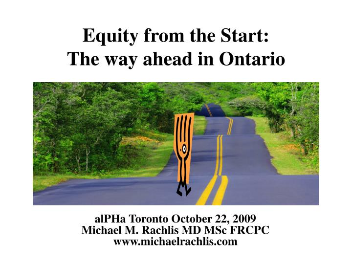 equity from the start the way ahead in ontario