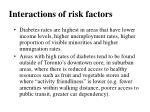 interactions of risk factors