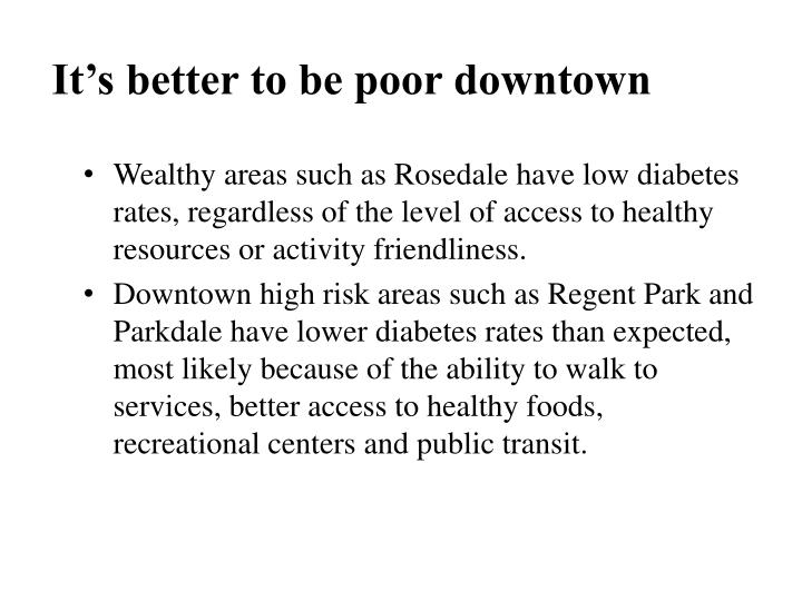 It's better to be poor downtown