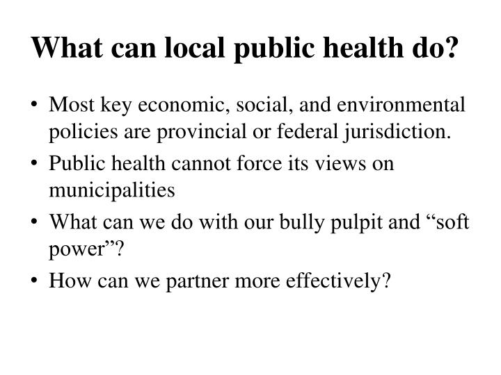 What can local public health do?