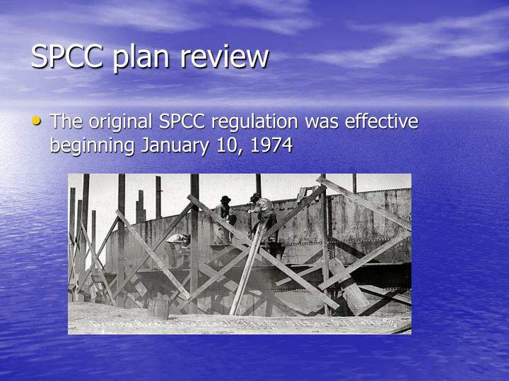 SPCC plan review