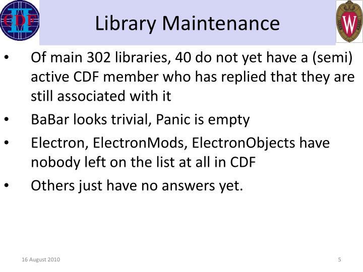 Library Maintenance